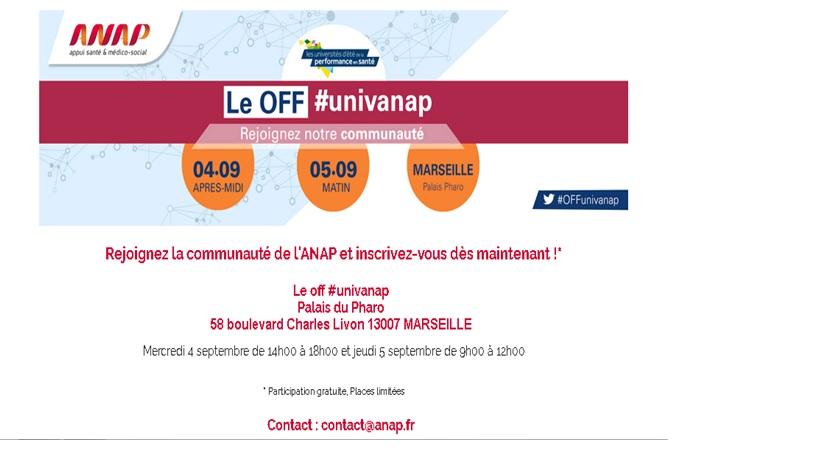 Les 9èmes universités de  l'ANAP à Marseille: inscrivez-vous